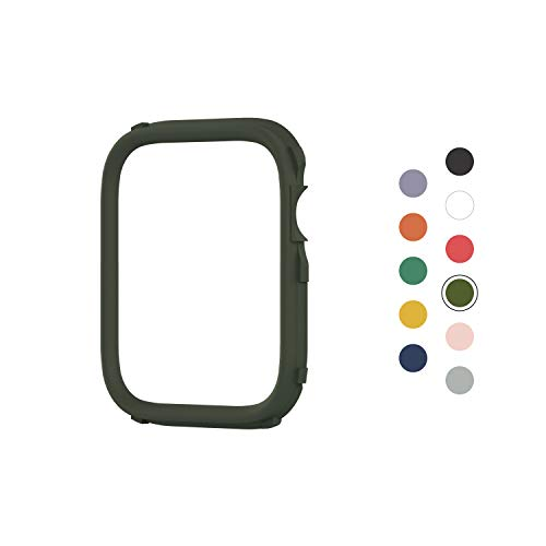 RhinoShield CrashGuard NX Extra Rim [ONLY] compatible with Apple Watch Series 1/2 / 3 [42mm] & Series 4/5 [44mm] | Additional ACCESSORY for RhinoShield Apple Watch Case - Camo Green