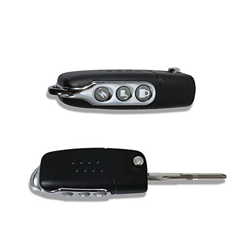 JOM Car Parts & Car Hifi GmbH 7154 Handsender mit Klappschlüssel, 3 Tasten, schwarz/Chrom