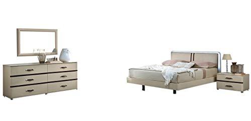 Fantastic Prices! Altea Modern Queen Bedroom Set in Beige, 5-Piece