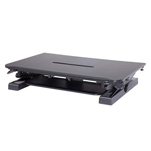 Cotytech Conversor de escritorio de pie sentado - Dinámicamente altura ajustable negro