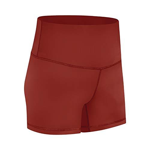 No-Branded WZGGZWGG Frauen Short Bund liegt flach Shorts Camouflage High Waist schweißableitenden Jogging Yoga Shorts (Color : Rot, Size : M)