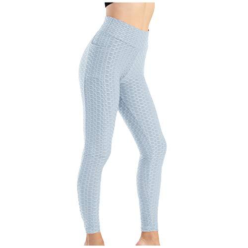 xiaogui Mallas de Deporte de Mujer, Leggins Pantalon Deporte Yoga, Leggings Mujer Fitness Suaves Elásticos Cintura Alta para Rojoucir Vientre