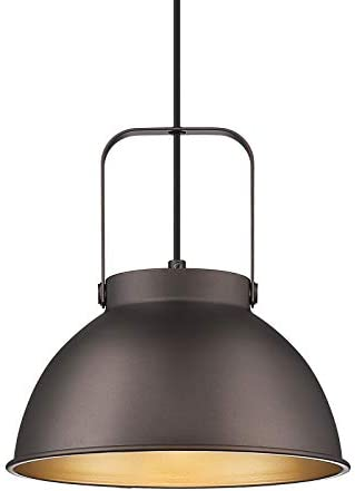 Farmhouse Dome Barn Pendant Light Height Adjustable HWH Industrial Nautical Hanging Light with product image