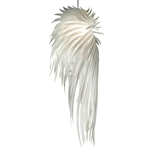 Modern DIY Pendelleuchte Papier Lampenschirm Runden Kreative Design Hängeleuchte e27 Hängelampe für Wohnzimmer Schlafzimmer Esszimmer Weiß, L