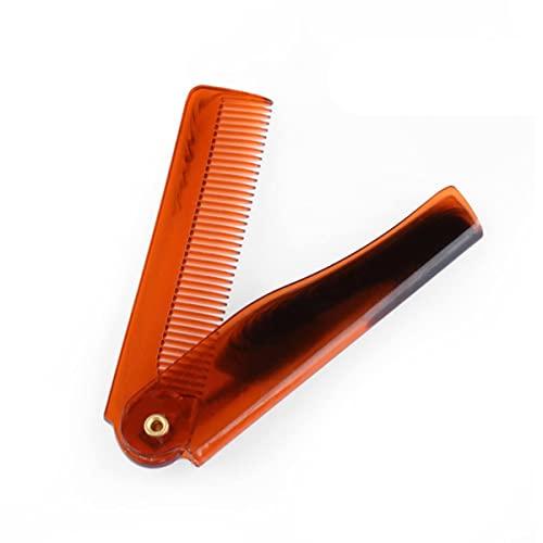 Peine de madera antiestático de moda para barba, peine de bolsillo de madera con dientes finos y gruesos para pelo de barba, bigotes, peine de pelo para barba