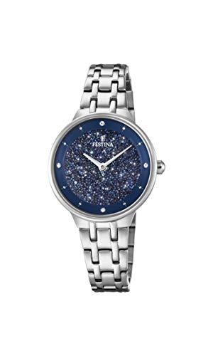 Festina Damen Analog Quarz Uhr mit Edelstahl Armband F20382/2