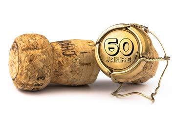 """Alu-Dibond-Bild 50 x 30 cm: """"Champagnerkorken 60 Jahre Jubiläum"""", Bild auf Alu-Dibond"""