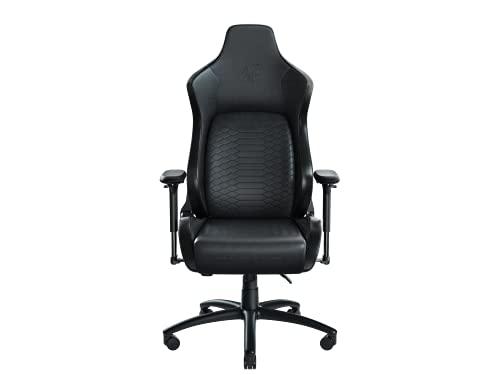 Razer Iskur Black (XL) - Premium Gaming Stuhl mit integrierter Lendenwirbelstütze (Schreibtischstuhl / Bürostuhl, mehrlagiges Kunstleder, Schaumstoff-Polster, Kopfpolster, Höhenverstellbar) Schwarz