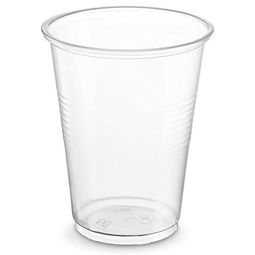 HOUFT Vasos de plástico desechables de 6 onzas, 100 tazas de plástico transparentes, tazas de cóctel de plástico, tazas de plástico, tazas de plástico para fiestas, tazas de banquete de boda