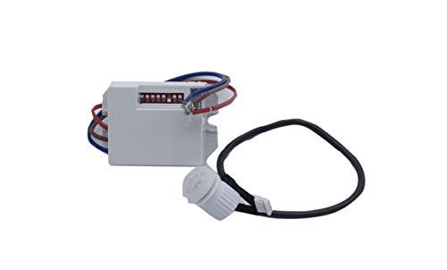 Detector de movimiento por infrarrojo empotrable mini. Ideal para...