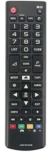 ALLIMITY AKB74915346 Control Remoto reemplazado por LG LED LCD TV 22MT41 22MT41DF-PZ 20MT48 27MT58DF 28MT41 24MT48DG-BZ...