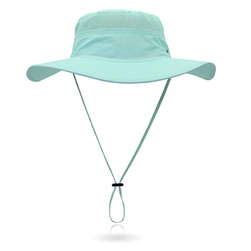 Jane Shine Outdoor Sun Hat Quick-Dry Breathable Mesh Hat Camping Cap Coral Blue