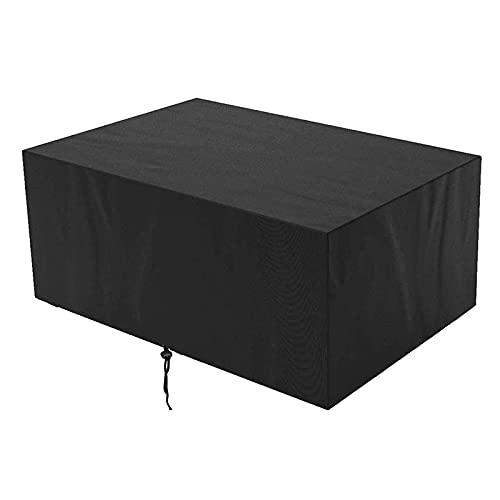 XISENOCI Cubierta para Muebles de jardín, Resistente al desgarro 420D Cubierta de Tela Oxford para Juegos de Patio, Impermeable, a Prueba de Viento, Anti-UV, con ventilación de Aire Cubierta de muebl