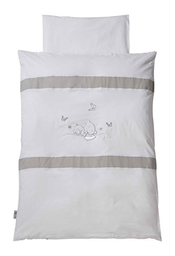 Easy Baby 810–90 Parure de lit, 100 x 135 cm, dreambear, blanc