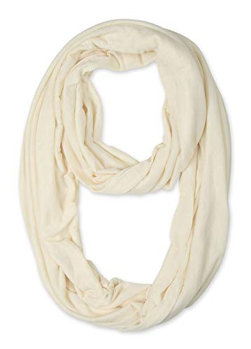 Corciova Light Weight Cosmic Latte Solid Colors Infinity Scarf Endless Loop