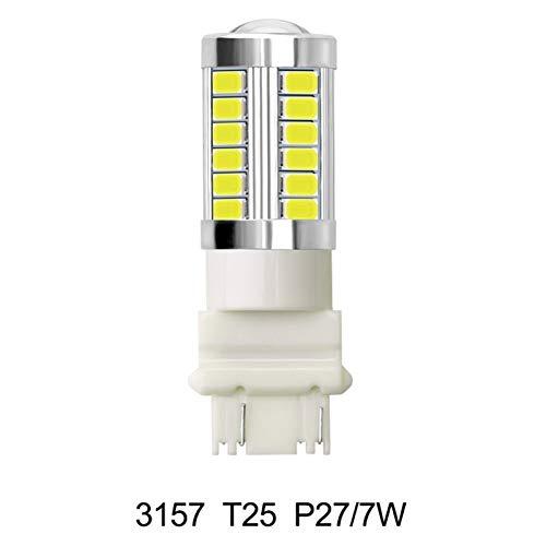 GCS Gcsheng 1 unid Lata/Bus SIN Error 1156 BA15S P21W 1157 P21 / 5W BAY15D Luces inversas Luz de LED 3157 P27 / 7W Lámpara de Freno Automático 12V Bulbo Vehículo