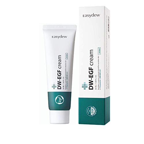 Easydew DW-EGF Cream Limited 1.69 fl oz - Award-winning Anti-aging Cream with Human Epidermal Growth Factor - Naturally Produce Collagen to Rejuvenate & Regenerate Cells Smooth Skin Refreshing Cream