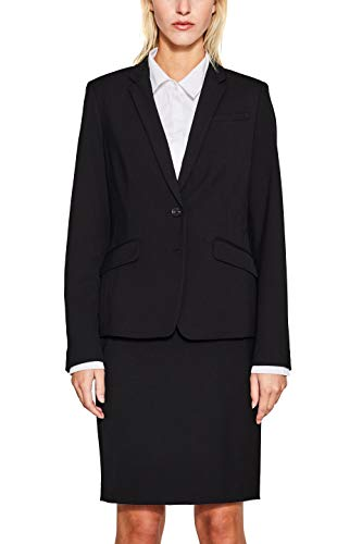 ESPRIT Collection 997eo1g804 Blazer, Nero (Black 001), 36 Donna