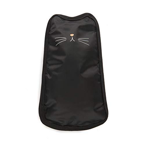 Balvi Enfriador de Botellas de Vino Meow Color Negro Funda enfriadora en Forma de Gato con Bandas elásticas Nylon 24 cm