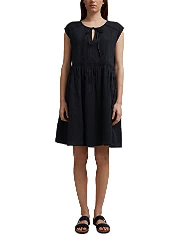 ESPRIT Voile-Kleid aus Bio-Baumwolle mit Spitze