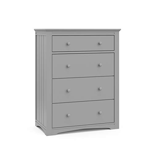 Storkcraft Graco Hadley 4 Drawer (Pebble Gray) Dresser, 31. 89x17. 72x40. 87 Inch (Pack of 1)
