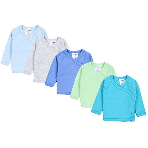 TupTam Baby Jungen Langarm Wickelshirt Baumwolle 5er Set, Farbe: Mehrfarbig 5, Größe: 68
