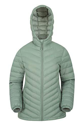 Mountain Warehouse Seasons Gefütterte Damenjacke - Wasserbeständige Winterjacke, Fronttaschen, verstellbare Bündchen und Kapuze mit Elastik Khaki 52