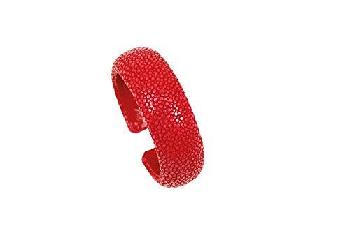 Samba Armreif aus Rochenleder 20mm (Rosso)