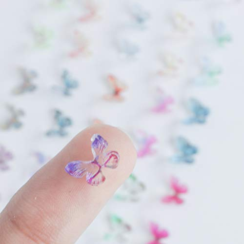 48 Pcs Random Colors 3D Resin Butterfly for Nail Arts -3D Butterfly Nail Charm with AB Nail Art, Butterfly Nail Decal, Nail Glitter, Nail Butterfly 3D, Nail Art DIY Supplies
