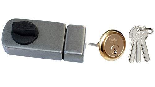 Kastenschloss Zusatzschloss Türzusatzschloss 50 Außenzylinder Türschloß Grau