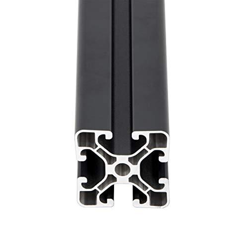 PremiumX 2000mm Aluminium Profil 40x40 mm Nut 8 Strebenprofil Anthrazit 4040 Alu Konstruktionsprofil Aluprofil 2m