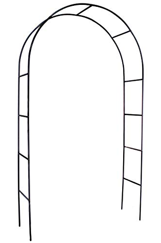 """Choies Arch Iron Black Outdoor Patio for Climbing Plant and Wedding,Round Top, 4'5"""" Wide x 7'8"""" High"""