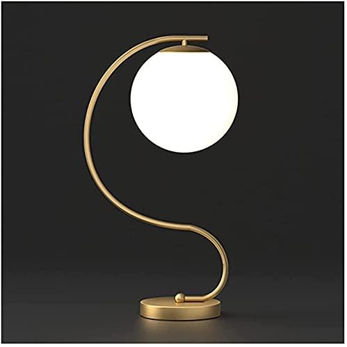 Abat jour da comodino lampade da comodino Lampada da comodino con sfera di vetro Lampada da comodino moderna minimalista Lampada da comodino per la casa Sala studio per soggiorno Piccola lampada da ta