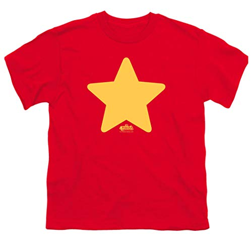 Camiseta e adesivos Steven Universe Star Cartoon Network Youth, Vermelho, Large