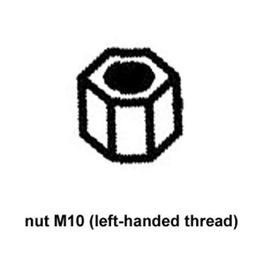 ATIKA Ersatzteil | Mutter M10 (Linksgewinde) für Gartenpflegeset BMGS 30 / BFGH 30
