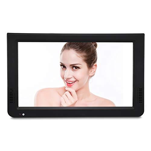 Garsent Televisore portatile da 10 pollici, TV portatile con registratore DVB-T2 DVB-T/DVB-T USB PVR 1080P TV HD con telecomando per camera da letto, cucina, roulotte, ecc