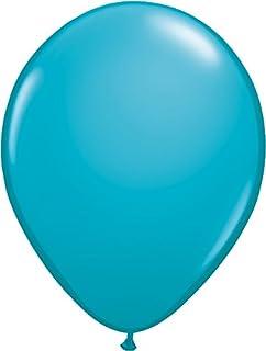 ゴム風船 Qualatexバルーン(ラウンド無地ファッションカラー)トロピカルティール 16インチ(直径42cm) 50個入り/袋
