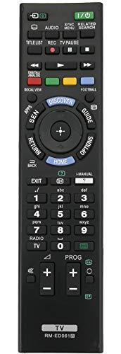 ALLIMITY RM-ED061 Telecomando Sostituisci per Sony Bravia TV KD-49X8505B KDL-42W706B KDL-42W805B KD-55X8505B KDL-50W828B KDL-50W829B KDL-55W817B KDL-55W828B KD-55X9005B