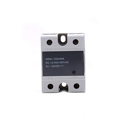 HUANRUOBAIHUO 1PC Relay For Relais Delixi Solid State Relay Single Phase DC Control AC CDG1-1DA 40A D4840 SSR-DA40 3D Printer Parts