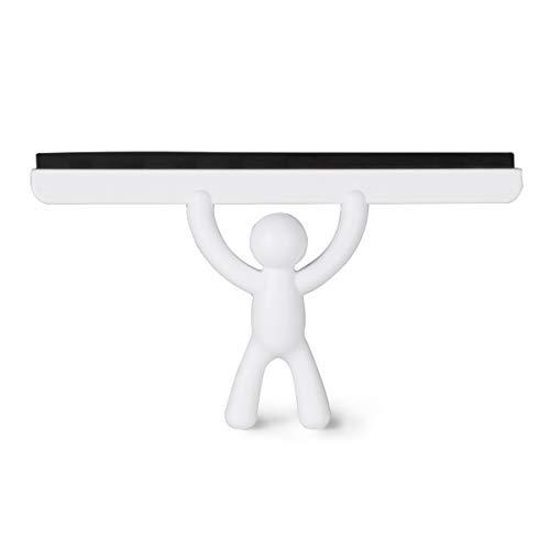 UMBRA Buddy Squeegee. Raclette de douche Buddy, coloris blanc, dimension 26.7x15.9x5.1cm