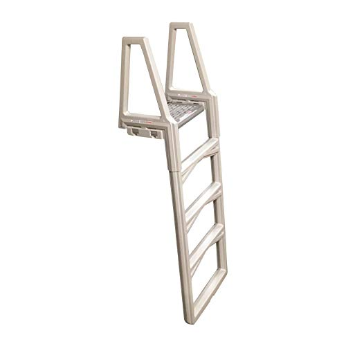 Confer 63552X Sturdy 46 to 56 Inch Adjustable Above Ground Swimming Pool Ladder