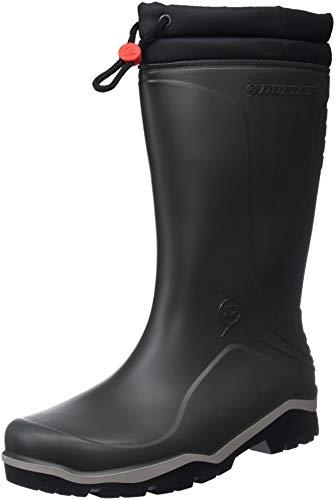 Dunlop Blizzard gefütterte Herren Gummistiefel, Grün (Green/Grey/Black ), 48 EU