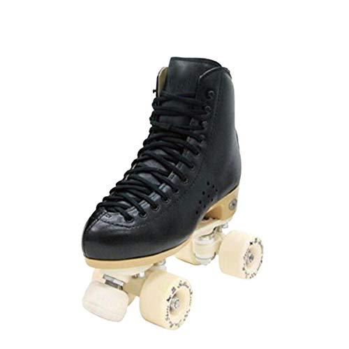 mens roller skates PU Wheels quad roller skates Indoor Outdoor Adult Roller Skates-Black_41(25.5cm)