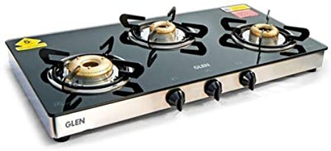 Glen LPG Stove 1033 GT XL Forged Brass Burner Double Drip Tray