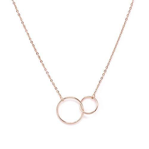 a little something ® Halskette Praga | Damen Kette mit 18 Karat Vergoldung in Roségold | Inklusive nachhaltiger Geschenkverpackung (FSC®-Zertifikat) | Kollektion 2020