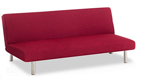 Bartali Funda de sofá Clic-clac elástica Olivia - Color Granate - Tamaño estandar (de 170 a 205)