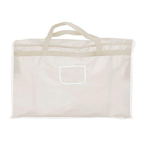 ドレスバッグ(TenBright) ホワイト しっかり丈夫なナイロン製! ウエディングドレス・スーツの収納や移動に便利 衣装ケース ドレスケース 収納カバー 持ち運べる 冠婚葬祭 機内持込