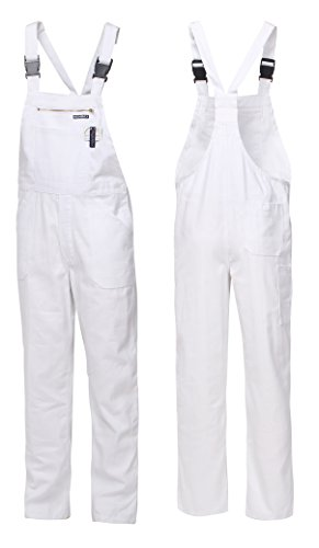 HighMax Latzhose Arbeitshose 100% Baumwolle BW 280G Weiß Maler Arbeitskleidung Food (48)