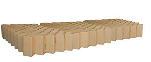 ROOM IN A BOX – het familiebed: TÜV-getest, flexibel, vrij van schadelijke stoffen, duurzaam van gerecycled golfkarton. 270 x 220 cm bruin