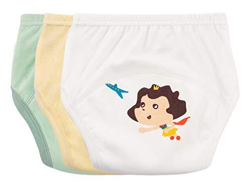 Happy Cherry - 3PC Baby Mädchen Trainerhosen Mädchen Unterwäsche Kinder Windelhose Kleinkinder Töpfchen Trainingshose Cotton